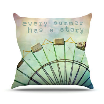 "Sylvia Cook ""Every Summer Has a Story"" Throw Pillow"