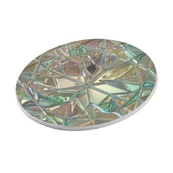 Diamond pattern, stained glass look paper plate