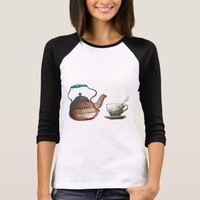 Tea Pot and Tea Cup Art T-Shirt