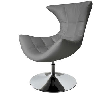 Charlotte Swivel Chair Gray eco leather