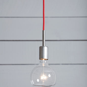 Industrial Steel Pendant Light - Mid Century