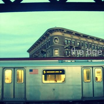 No 5 Subway Train is Here 85x11 Photography Print New by thebqe