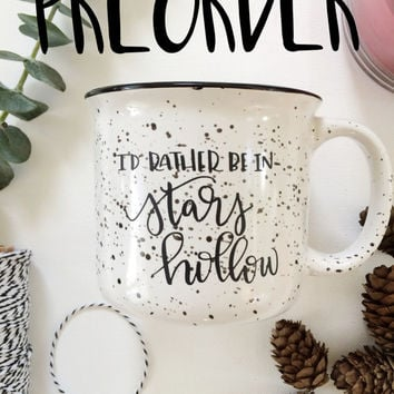 PREORDER Stars Hollow Coffee Mug, 15 oz. Hand Lettered Gilmore Girl Ceramic Large Camp Mug