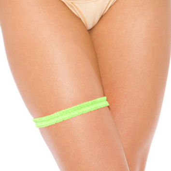 Body Shotz Garter  Neon Green