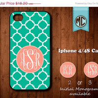 20% OFF SALE Personalized iPhone 4 Case - Plastic iPhone case - Rubber Silicone iPhone case - Monogram iPhone case - iPhone 4s case - MC083