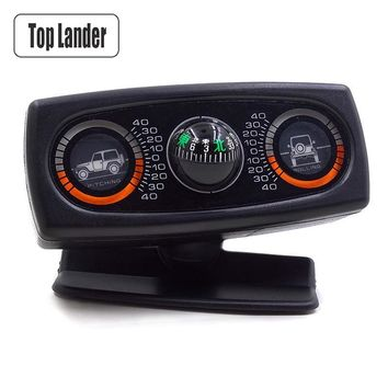 3 In 1 Multifunction Car Inclinometer Vehicle Compass For Jeep SUV Car Accessories Compass Ball Angle Slope Level Inclinometer