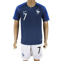 2018 World Cup France Team Football Clothes Football Jersey Football Shirt Soccer Jersey Soccer Uniform (2 Piece)