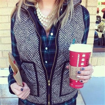 Womens Autumn&Winter Quilted Puffer Vest