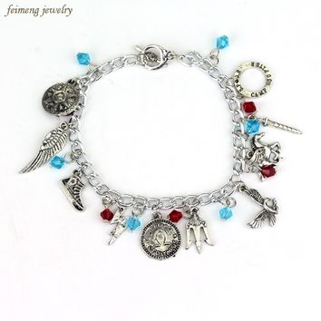 1pc a lot Once Upon a Time Supernatural Percy Jackson Doctor Who Game of Thrones Divergent Charm Bracelet