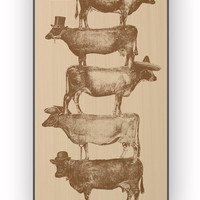 Cow Cow Nuts for iPhone 4/4S Case *