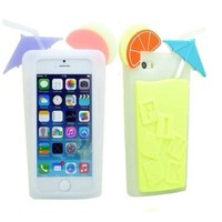 ONG Victoria's Secret Beverage cup Soft Silicone case For iPhone 4 4S-Yellow