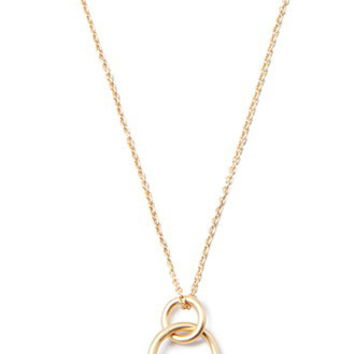 Looped Hoop Charm Necklace