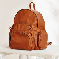 Ecote Multi Pocket Leather Backpack - Urban Outfitters