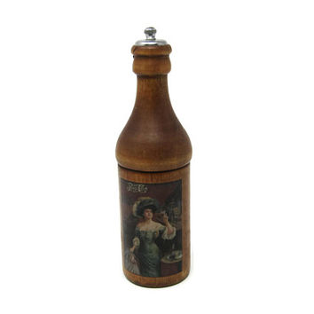 Vintage Salt and Pepper Mill - Pepsi Cola 75th Anniversary Salt and Pepper Mill - Advertising Pepsi 1898-1973