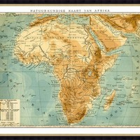 One Kings Lane - Family Roots - Map of Africa