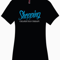 Shopping - Cheaper Than Therapy Black Ladies Perfect Weight Crew Tee