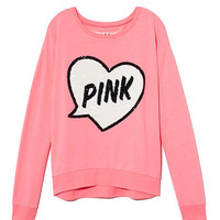 Bling Slouchy Crew - PINK - Victoria's Secret