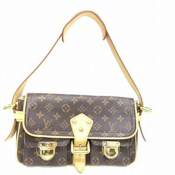 Louis Vuitton Monogram Hudson PM Shoulder Bag Brown M40027 9243