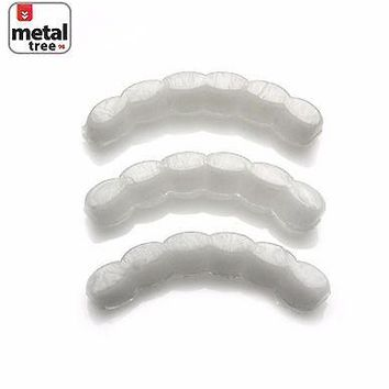 Jewelry Kay style Men's Hip Hop Molding Wax Fitting Silicone Fixing Bar Bottom Teeth Grillz 3Pcs