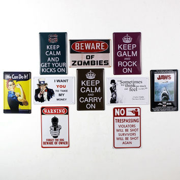 Keep Calm and Rock On Keep Calm and Carry On Charlie Chaplin Old School Retro Tin Sign Vintage Metal Posters