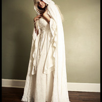 Gwendolyn Medieval Velvet and Lace Wedding Gown by RomanticThreads