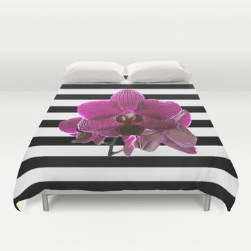Purple Orchid Duvet Cover by Mirimo | Society6