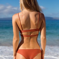 ACACIA Swimwear 2018 Makai Bottom in Mai Tai- Small