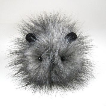 Puff the Small Grey Guinea Pig Plushie by Zygopsyche on Etsy