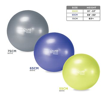 Pure Fitness Professional Exercise Stability Ball