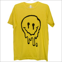 Sick & Melted sMiLeY fAcE T-Shirt (ATTN: notate SIZE during checkout)