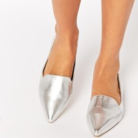 ASOS LIVE A LITTLE Pointed Ballet Flats