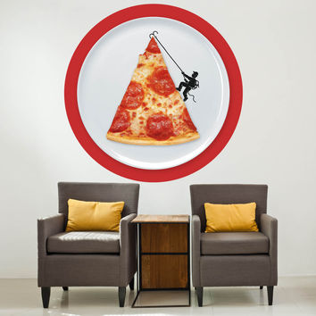 Enkel Dika's Pizza Topping Circle Decal