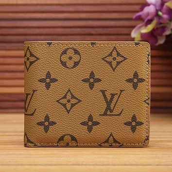 Louis Vuitton Women Fashion Leather Wallet Purse