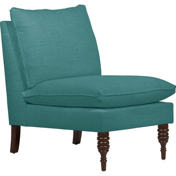 Bacall Slipper Chair, Teal, Accent & Occasional Chairs