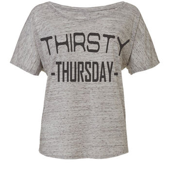 thirsty thursday party top party shirt workout shirt workout tee workout top party clothes activewear activewear work out shirt work out top