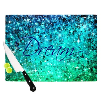"Ebi Emporium ""Dream"" Blue Teal Cutting Board"