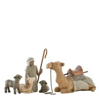 Willow Tree Shepherd and Stable Animals, Christmas Nativity Set Free Shipping