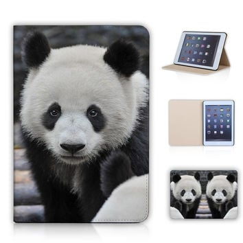 Wildlife Animal Lovely Panda/ Dolphin/Elephant/Giraffe Smart Leather Case for ipad mini 1/2/3 With Sleep Wake Up Function