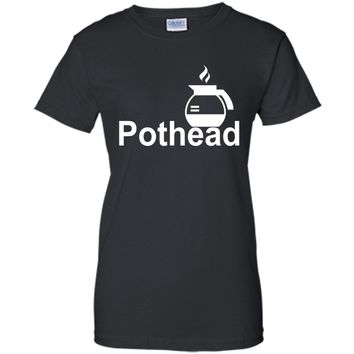 POTHEAD LOVING COFFEE FUNNY TEES