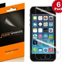 SUPERSHIELDZ- Anti-Glare & Anti-Fingerprint (Matte) Screen Protector For iPhone 5 5S 5C + Lifetime Replacements Warranty [6-PACK] - Retail Packaging