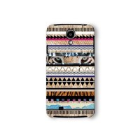 Samsung Galaxy S4 Case, Tiger Aztec Geometric on Wood Pattern 3d-sublimated, Mobile Accessories.