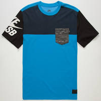 Nike Sb Blocked Out Dri-Fit Mens Pocket Tee Blue  In Sizes
