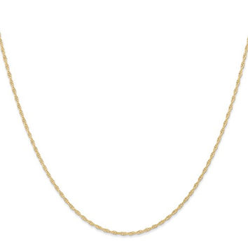 14k Yellow Gold 1.35 mm Cable Rope Chain