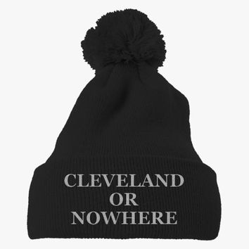 Cleveland Or Nowhere Embroidered Knit Pom Cap