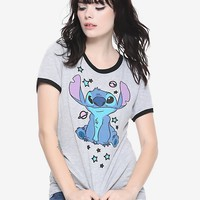 Disney Lilo & Stitch Planets Girls Ringer T-Shirt