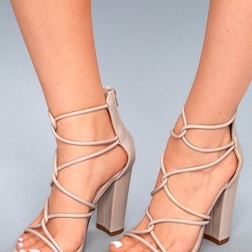 Beau Nude Patent Dress Sandals