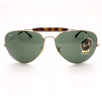 Cheap Ray Ban RB 3029 181 62 Gold Havana Green Outdoorsman New Authentic Sunglasses