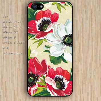 iPhone 5s 6 case watercolor pink and white flowers colorful phone case iphone case,ipod case,samsung galaxy case available plastic rubber case waterproof B500