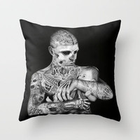 ZOMBIE BOY Throw Pillow by Flylen | Society6