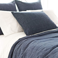 Chambray Linen Bed Linens | Ink